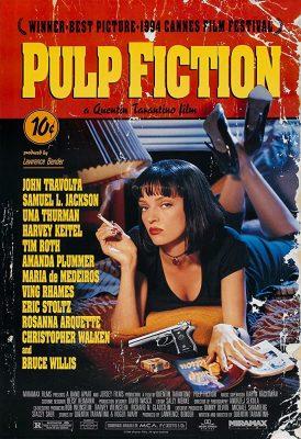 Filmy po angielsku - plakat filmu Pulp Fiction
